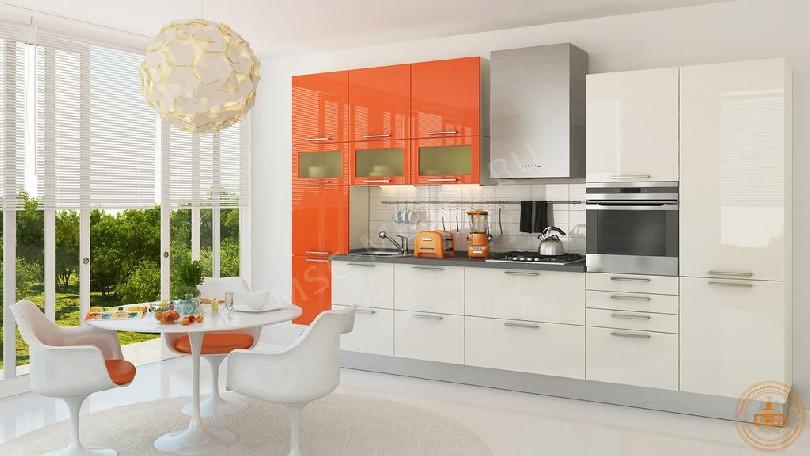 Кухня из пластика «Апельсиновый шейк»