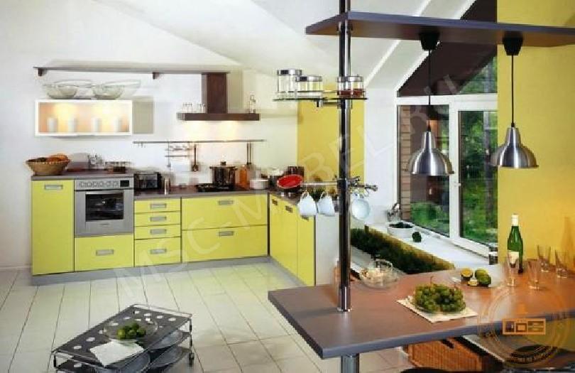 Кухня из пластика «Жёлтый лимон»