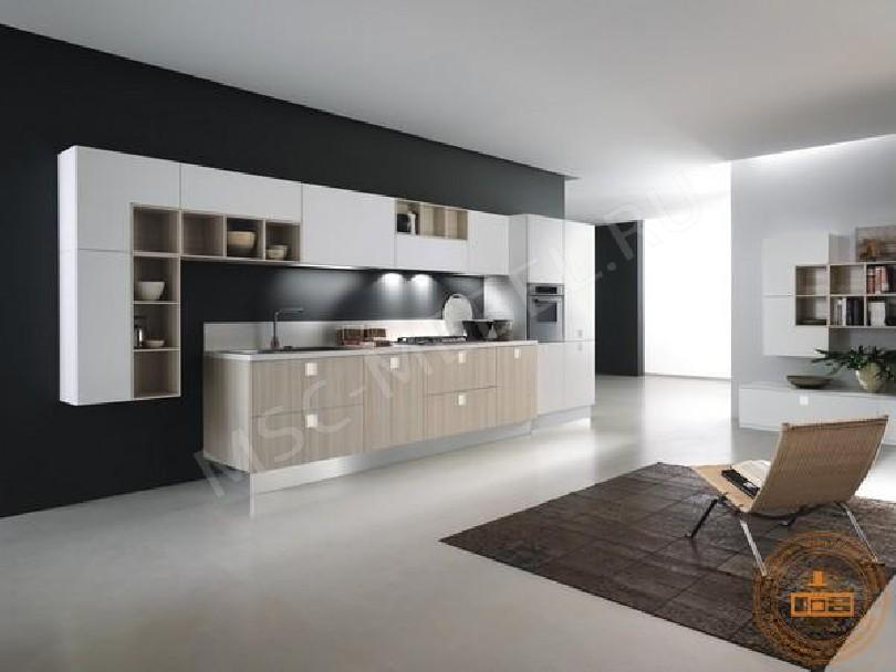 Фото Кухня из пластика «Ванильный мусс»