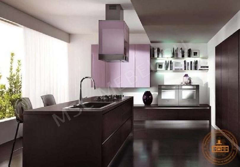 Фото Кухня из пластика «Лиловый шик»