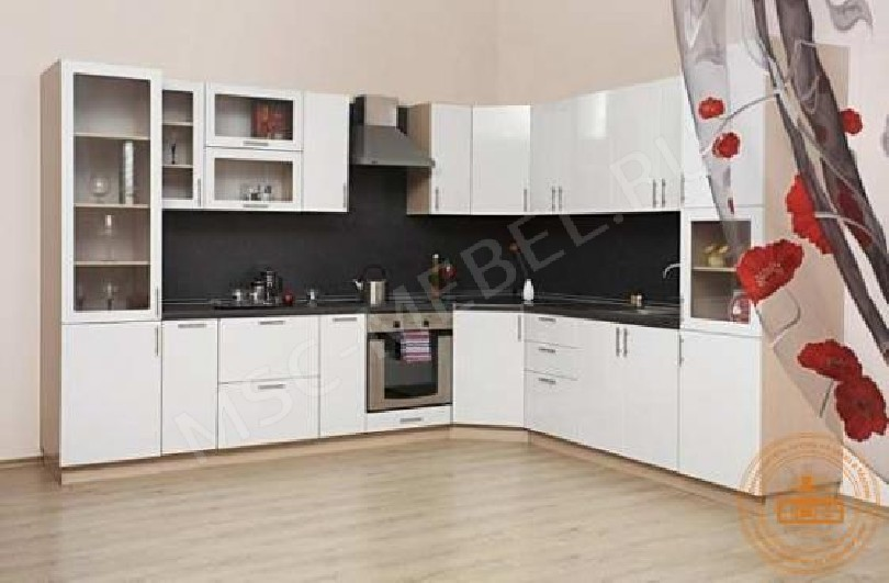 Кухня из пластика «Белый глянец»