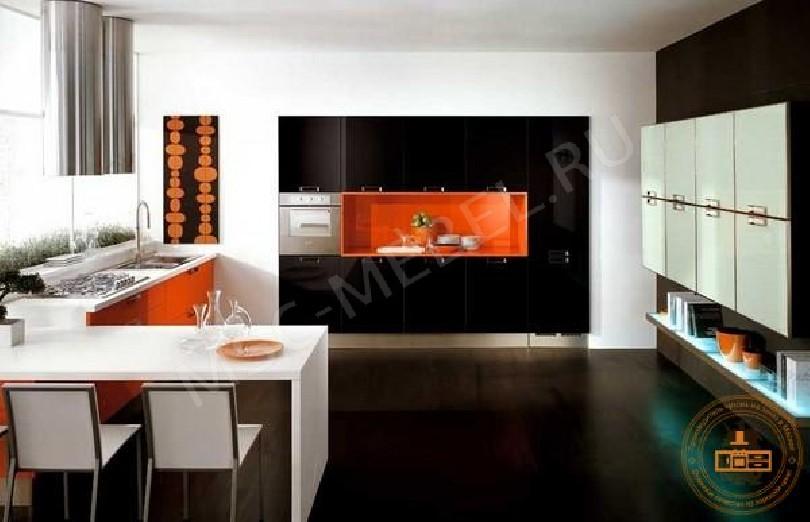 Фото Кухня из пластика «Цитрусовый бум»