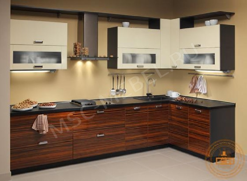Кухня из пластика «Ваниль Эбен Сенегал»