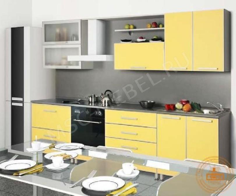 Кухня из пластика «Жёлтый лимон 1»