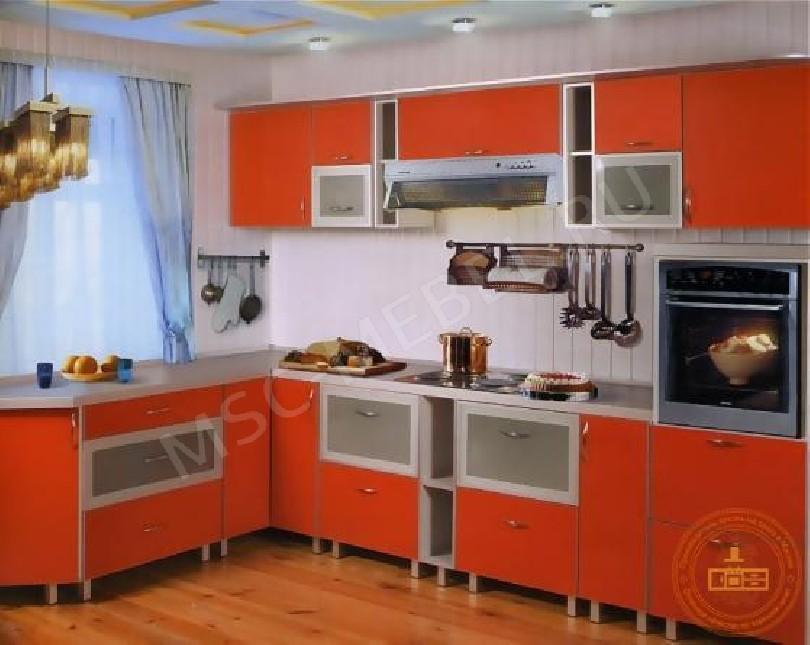 Фото Кухня из пластика «Апельсиновый сок»