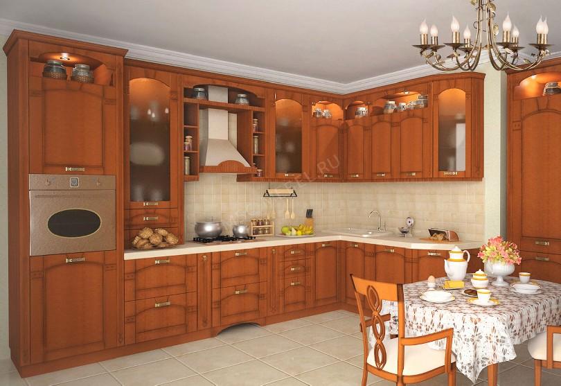 Фото Кухня из массива дерева «Рамина»