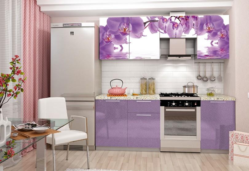 Фото Кухня эконом Орхидея