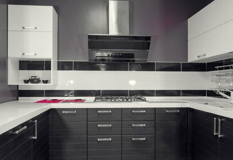 Фото Черно-белая кухня Премьер