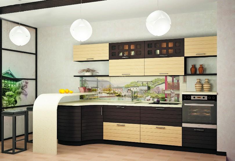 Фото Темно-светлая кухня Ликарион