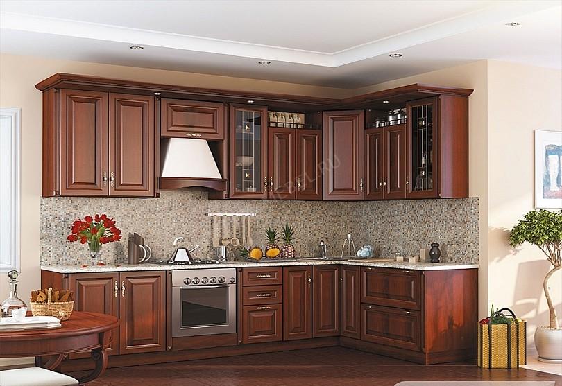 Фото Кухня Регина Столплит из массива дуба
