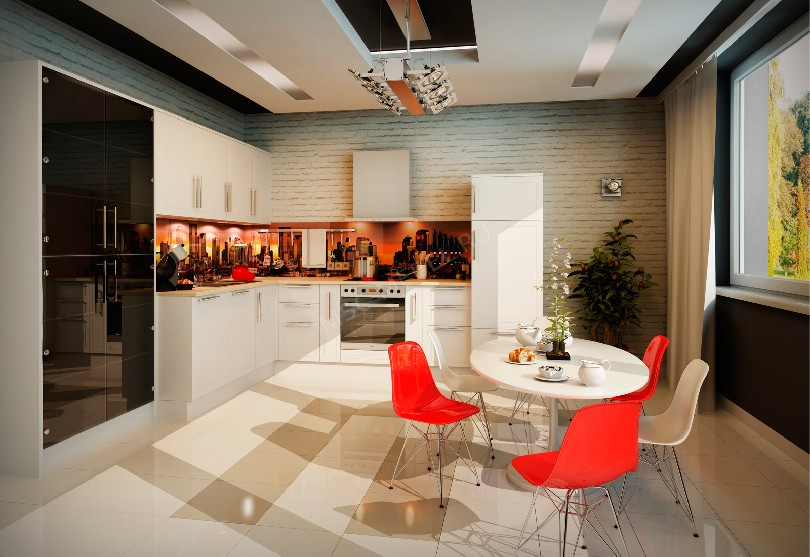 Фото Модерн кухня «Город»