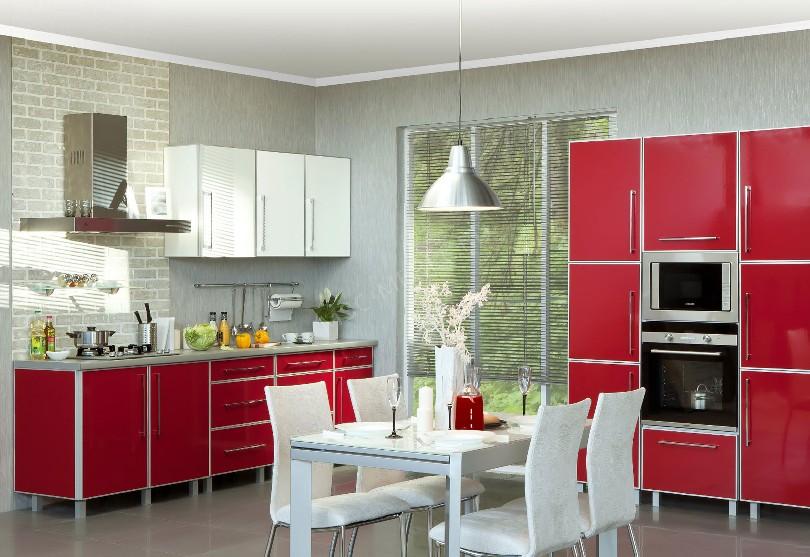 Фото Кухня Альфа с фасадами в алюминиевой рамке