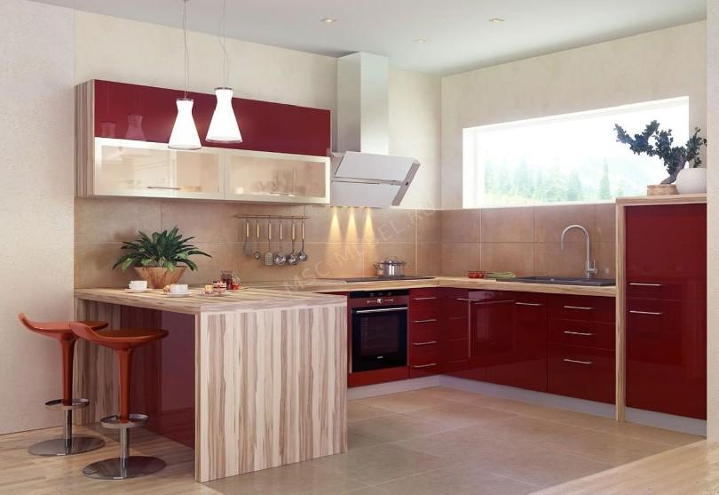Кухня в стиле минимализм «Черри»