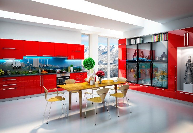 Фото Ярко-красная кухня «Марго»
