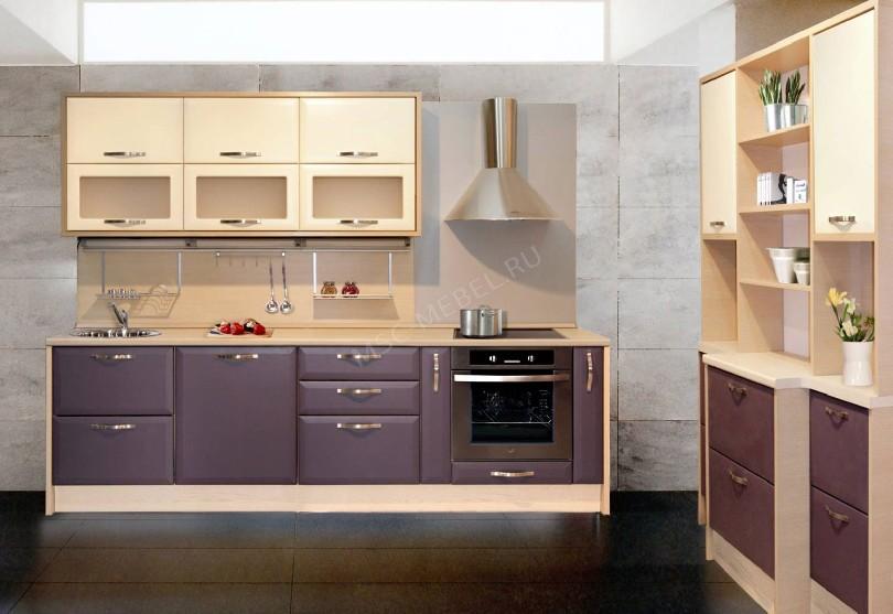 Фото Прямая кухня с бутылочницей в стиле модерн