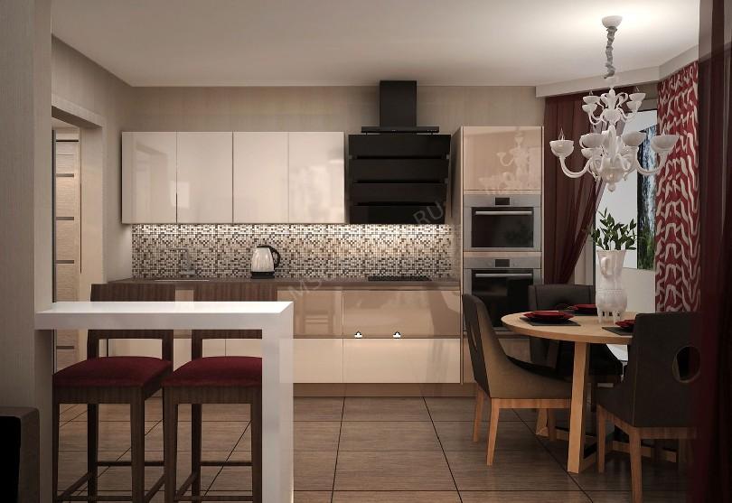 Фото Бежевая кухня Плюс из пластика