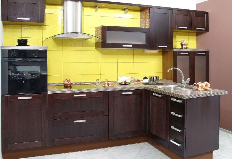 Фото Кухня Абико в коричневых цветах