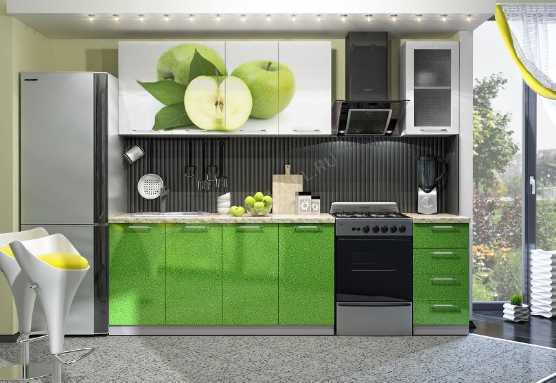 Фото Недорогая кухня «Яблоко»
