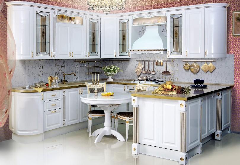 Фото Угловая кухня Evita в стиле ретро
