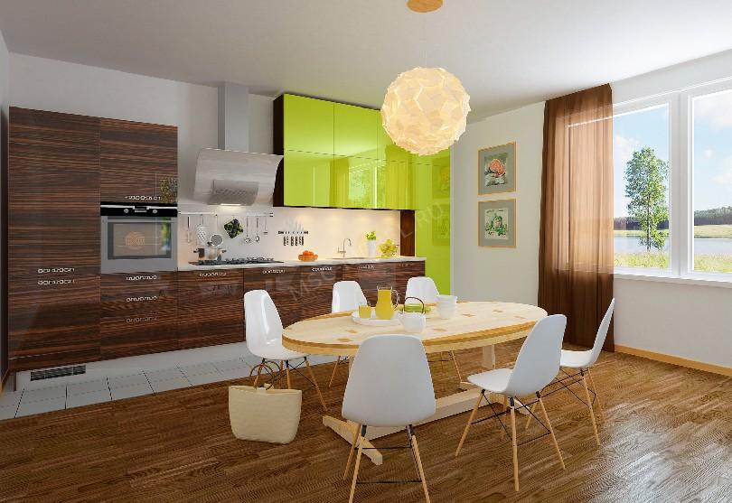 Фото Прямая кухня «Акрил»