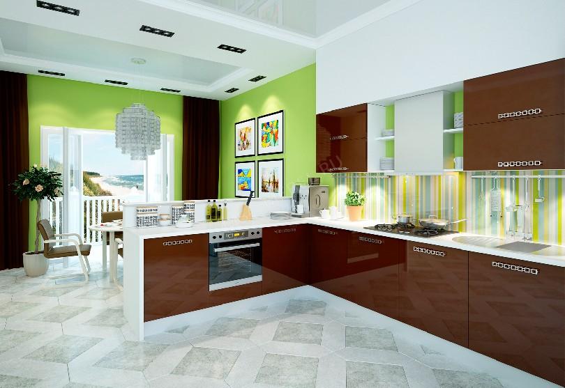 Фото Кухня пластиковая Шоколад