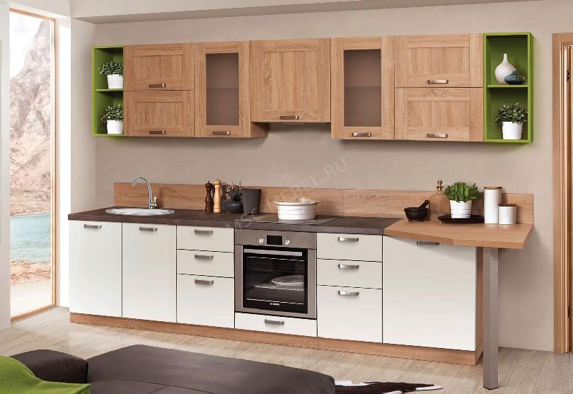 Фото Современная кухня Шервуд из массива березы