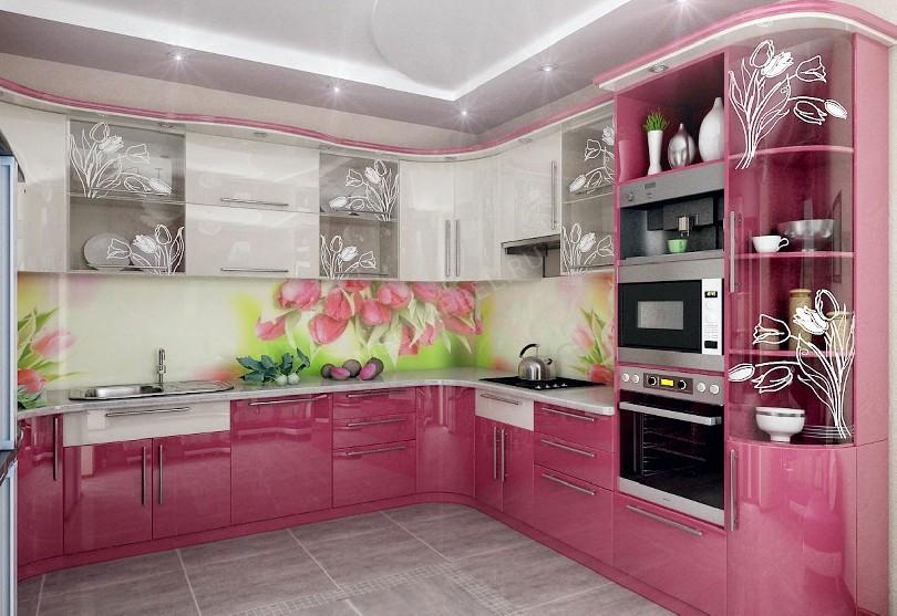 Фото Кухня Стильная с фотопечатью