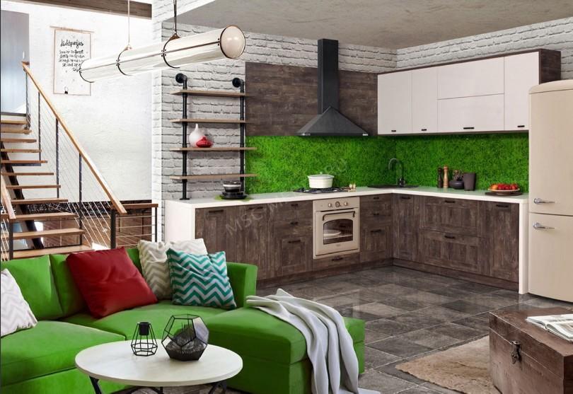Кухня в стиле шале «Трио Шервуд»
