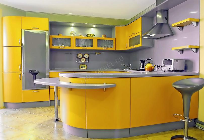 Фото Яркая кухня Парк в стиле модерн