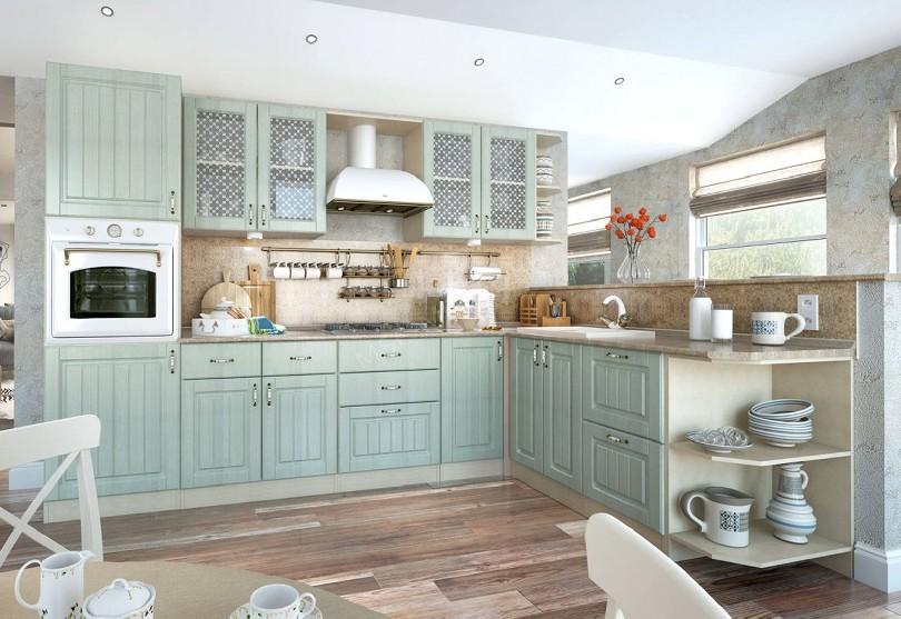 Фото Светлая кухня в классическом стиле Изабелла