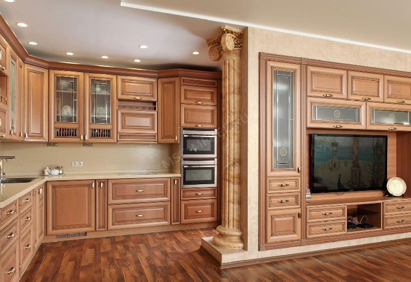 Фото Кухня-гостиная в стиле неоклассика «Ника»
