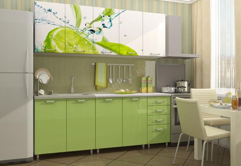 Фото Кухня Арина в салатовом цвете
