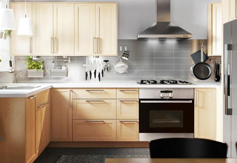 Фото Угловая кухня их массива березы