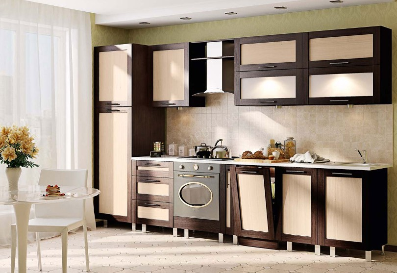 Фото Прямая кухня Престиж в современном стиле