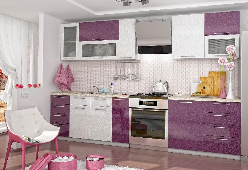 Фото Кухня Олива Пенза с фасадами эмаль