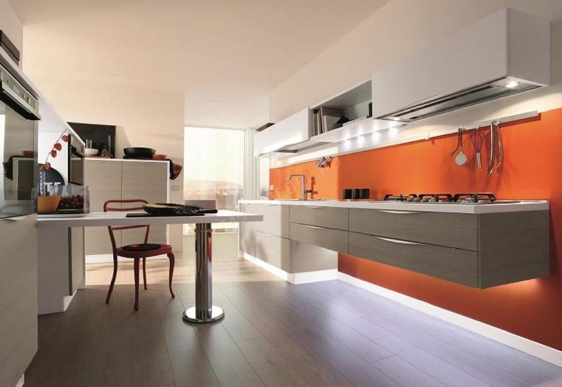 Фото Кухня «Elegrum» в пластике цвета космос