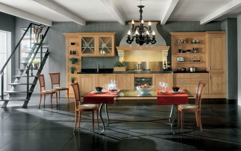 Фото Прямая кухня Bamax из массива березы