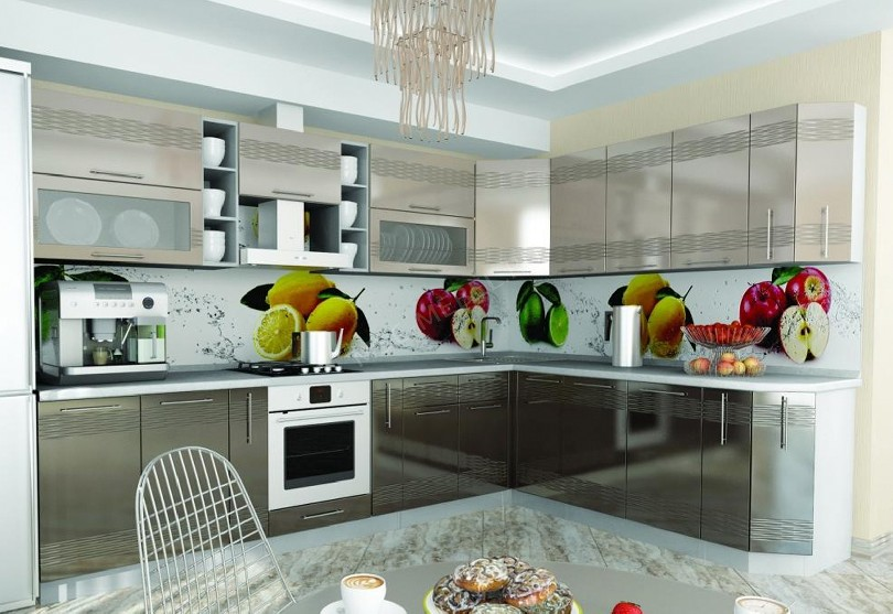 Кухни в стиле хай-тек «Центр»
