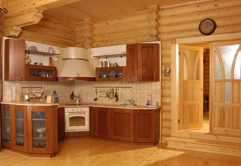 Фото Угловая Дом кухня с барной стойкой