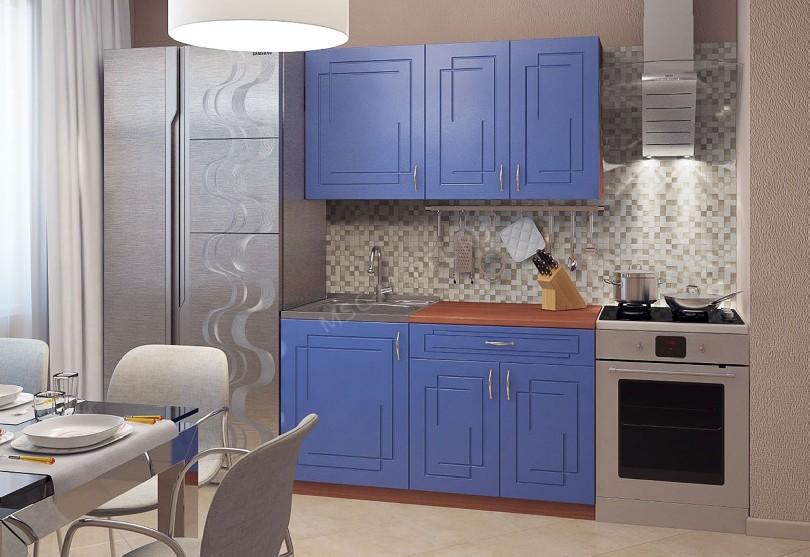 Фото Кухня Дарина с синими фасадами Alvic Luxe