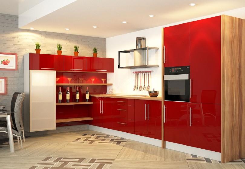 Фото Модерн кухня «Рябина»