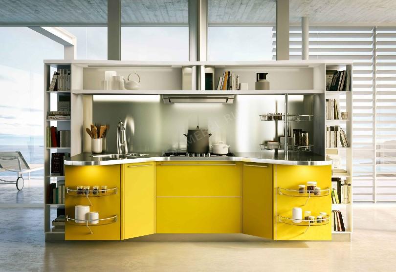 Фото Дизайнерская кухня Skyline для квартиры студии