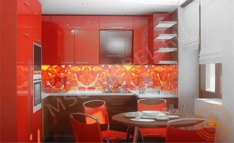 Фото Кухня Орхидея